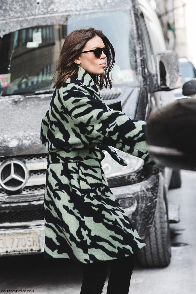 New_York_Fashion_Week-Fall_Winter_2015-Street_Style-NYFW-Camo_Coat-