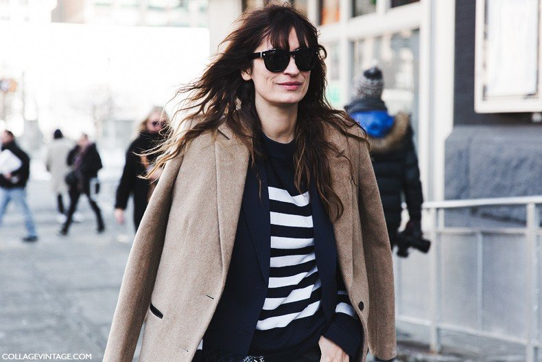 New_York_Fashion_Week-Fall_Winter_2015-Street_Style-NYFW-Caroline_De_Maigret-Camel_Coat-Striped_Top-