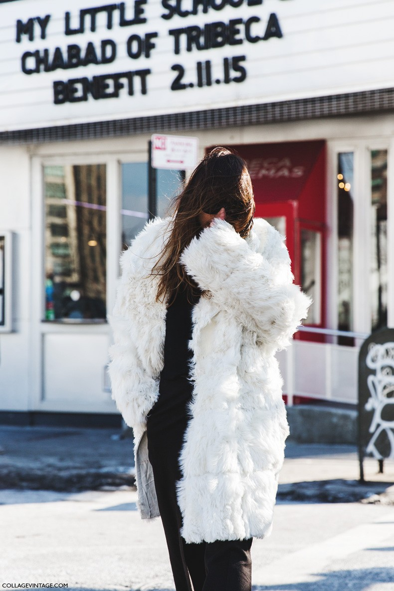 New_York_Fashion_Week-Fall_Winter_2015-Street_Style-NYFW-Caroline_De_Maigret-Fur_Coat-