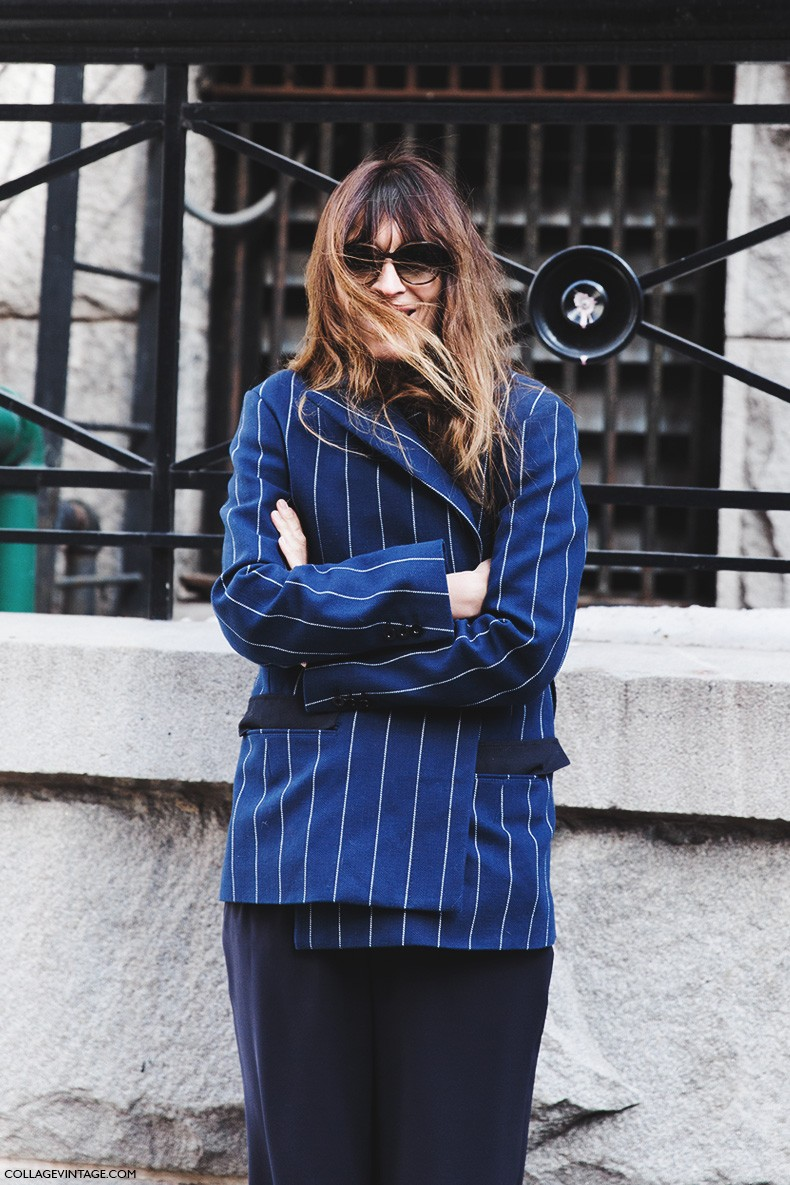 New_York_Fashion_Week-Fall_Winter_2015-Street_Style-NYFW-Caroline_De_maigret-Striped_Blazer-3