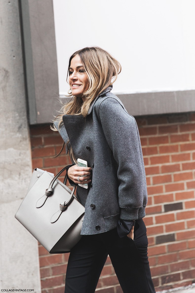 New_York_Fashion_Week-Fall_Winter_2015-Street_Style-NYFW-Celine_Bag-Grey_Coat-