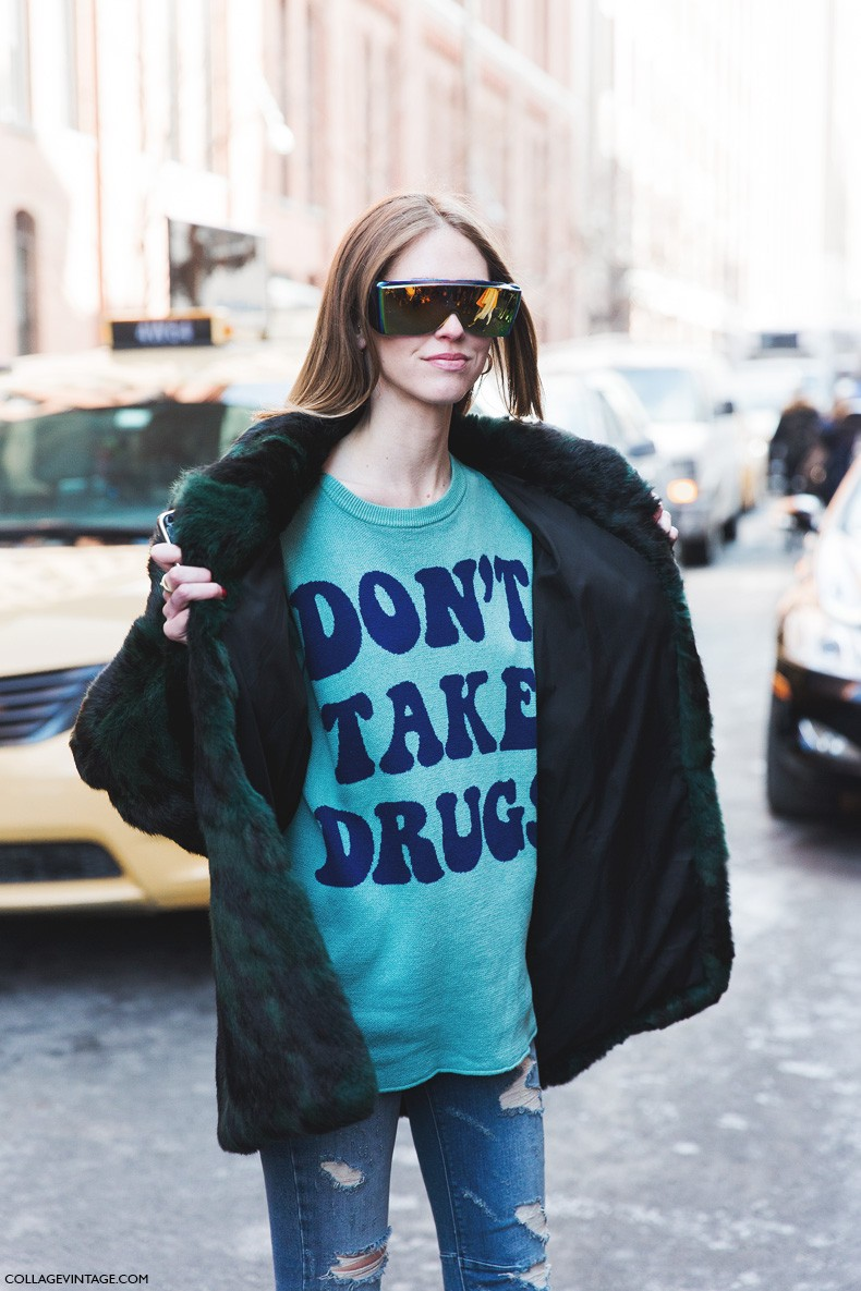 New_York_Fashion_Week-Fall_Winter_2015-Street_Style-NYFW-Chiara_Ferragni-Jeremy_Scott_Sweater-