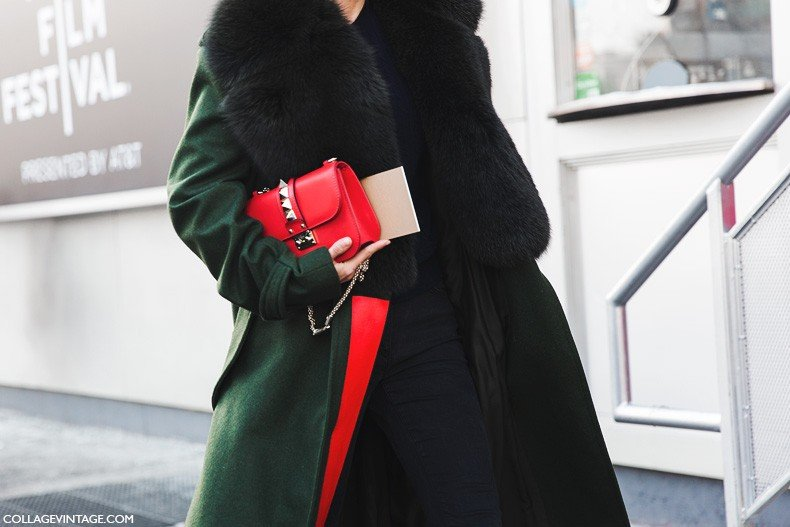 New_York_Fashion_Week-Fall_Winter_2015-Street_Style-NYFW-Fashion_Guitar-Green_Coat-Valentino_Bag-