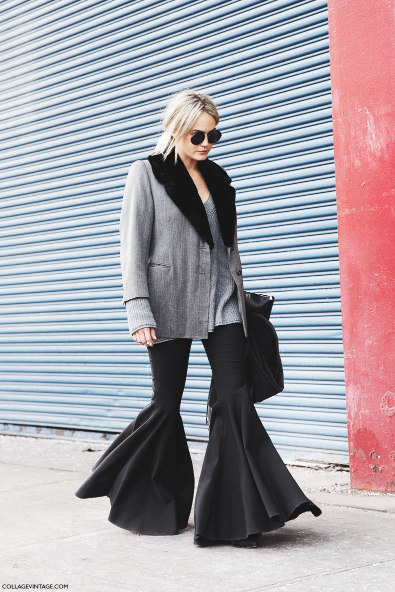 New_York_Fashion_Week-Fall_Winter_2015-Street_Style-NYFW-Flared_trousers-