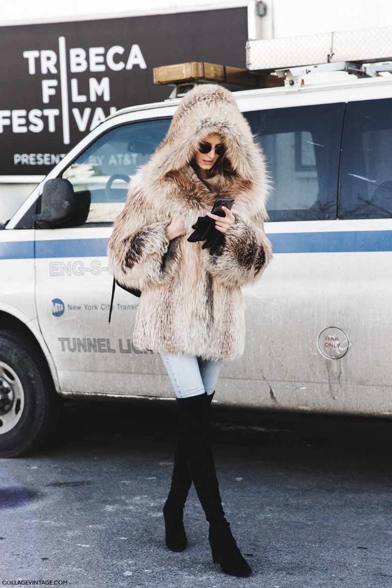 New_York_Fashion_Week-Fall_Winter_2015-Street_Style-NYFW-Fur_Coat-Over_The_Knee_Boots-