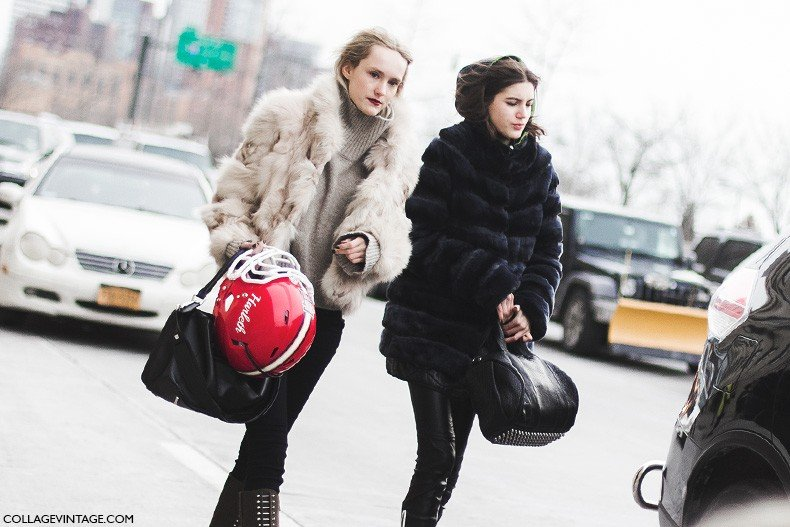 New_York_Fashion_Week-Fall_Winter_2015-Street_Style-NYFW-Fur_Coats-Models-Tommy_Hilfiger_30_Aniversary-
