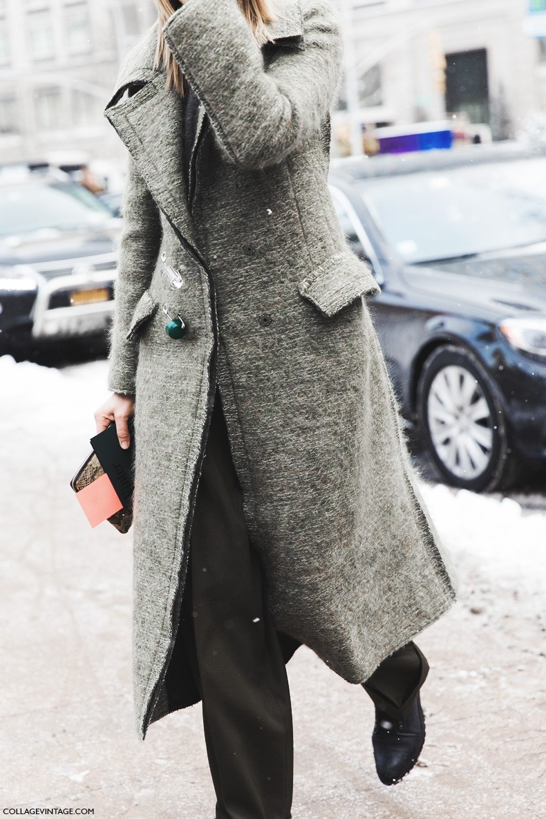 New_York_Fashion_Week-Fall_Winter_2015-Street_Style-NYFW-Green_Coat-