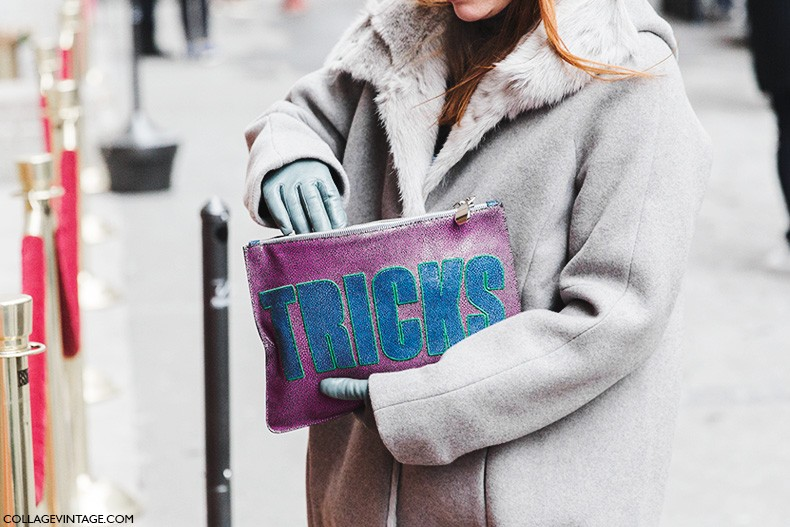 New_York_Fashion_Week-Fall_Winter_2015-Street_Style-NYFW-Grey_Coat-Fun_Clutch-