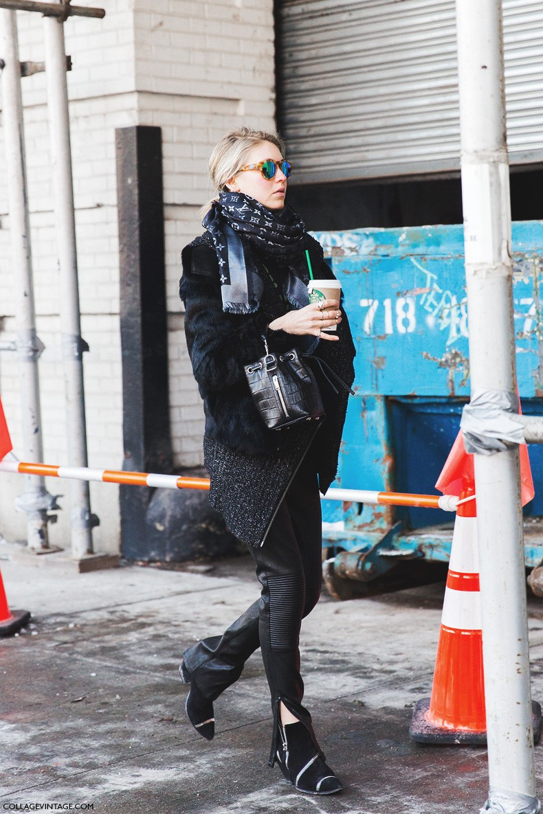 New_York_Fashion_Week-Fall_Winter_2015-Street_Style-NYFW-Jessica_Minkoff-Louis_Vuitton_Scarf-
