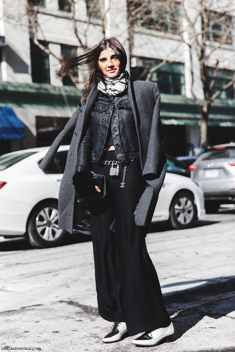 New_York_Fashion_Week-Fall_Winter_2015-Street_Style-NYFW-Layers-Black_And_White_Loafers-1