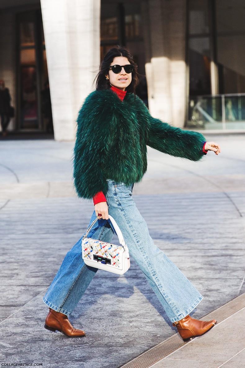 Street style nyfw i collage vintage Fashion style oktober 2015