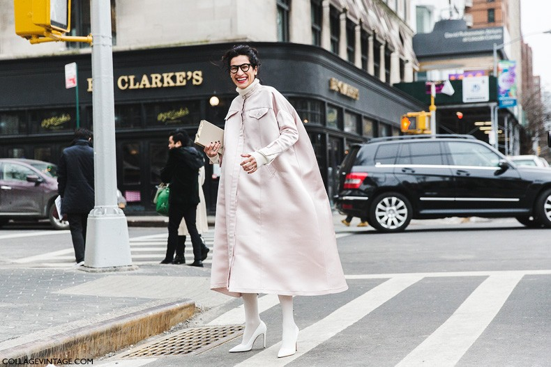 New_York_Fashion_Week-Fall_Winter_2015-Street_Style-NYFW-Light_Pink-White_Shoes-White_Tights-5