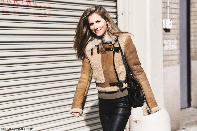 New_York_Fashion_Week-Fall_Winter_2015-Street_Style-NYFW-Marina_Larroude-Shearling_Coat-2