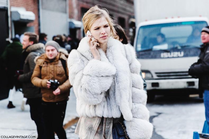 New_York_Fashion_Week-Fall_Winter_2015-Street_Style-NYFW-Model_fur_Coat-1