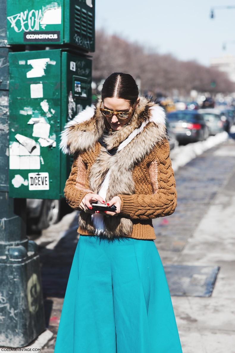 New_York_Fashion_Week-Fall_Winter_2015-Street_Style-NYFW-Olivia_palermo_Culotte-Kitwear-Fur_Scarf-9