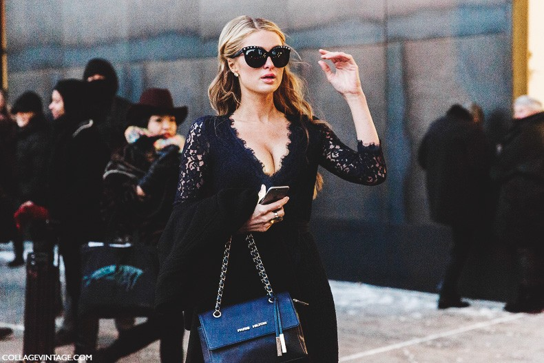 New_York_Fashion_Week-Fall_Winter_2015-Street_Style-NYFW-Paris_Hilton-Lace_Dress
