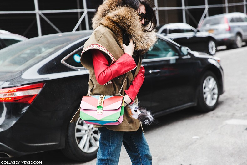 New_York_Fashion_Week-Fall_Winter_2015-Street_Style-NYFW-Parka-Valentino_Bag-Fur_Scarg-1