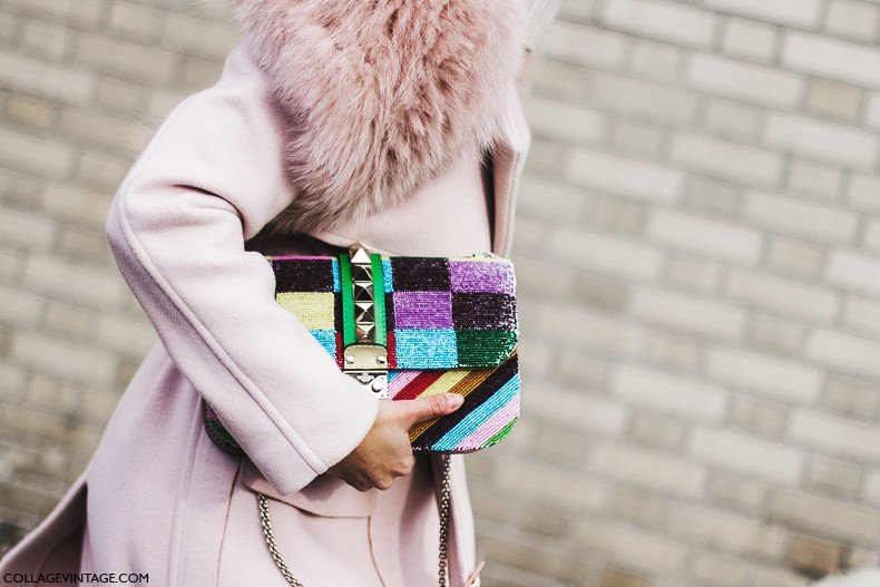 New_York_Fashion_Week-Fall_Winter_2015-Street_Style-NYFW-Pink_Coat-Valentino_Bag-2