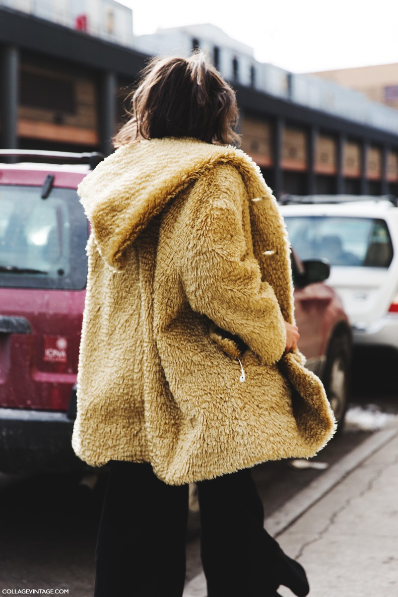 New_York_Fashion_Week-Fall_Winter_2015-Street_Style-NYFW-Shearling_Coat-