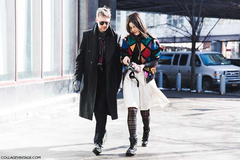New_York_Fashion_Week-Fall_Winter_2015-Street_Style-NYFW-Vintage_Jacket-Midi_Skirt-