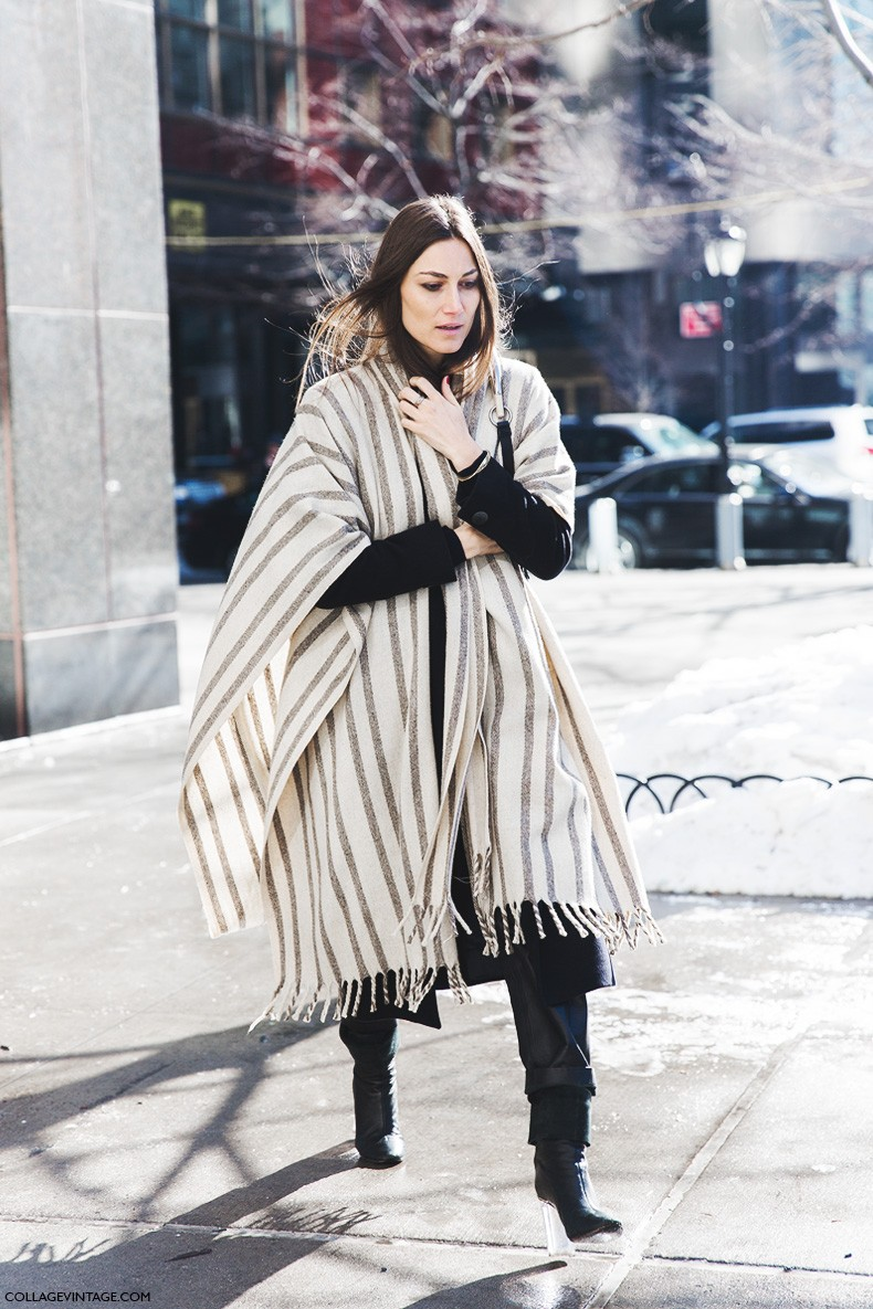 New_York_Fashion_Week-Fall_Winter_2015-Street_Style-NYFW-georgia_Tordini-Striped_Cape-1