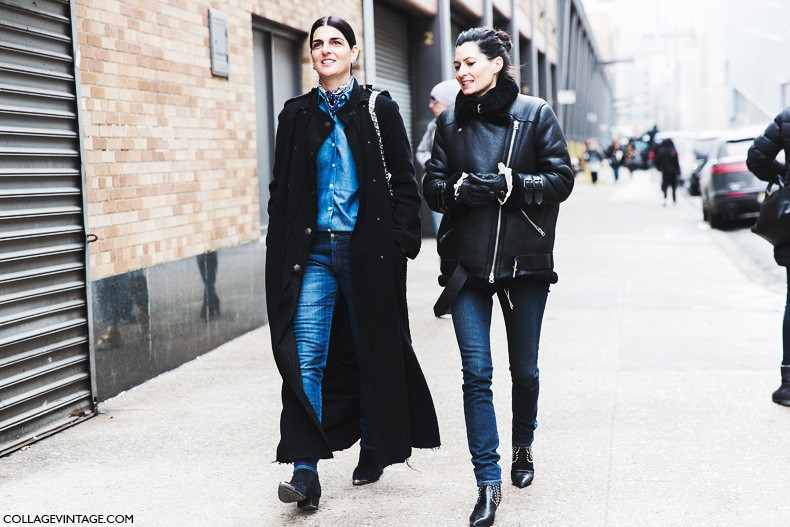 New_York_Fashion_Week-Fall_Winter_2015-Street_Style-NYFW-total_Denim-Long_Coat-Aviator_Jacket-