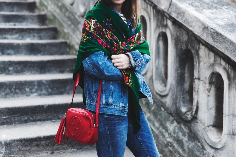 Double_Denim-Vintage_Scarf-ISabel_Marant_Sneakers-Striped_Top-PFW-Paris_Fashion_Week-Street_Style-31