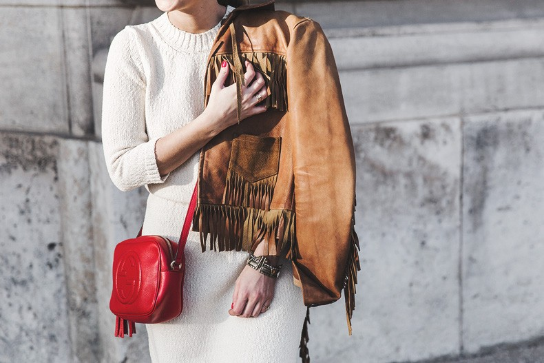 Fringed_Jacket-Polo_Ralph_Lauren-Flame_Sneakers-Isabel_Marant-Gucci_Disco_Bag-White_Dress-Outfit-Street_Style-25