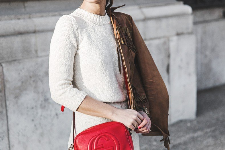 Fringed_Jacket-Polo_Ralph_Lauren-Flame_Sneakers-Isabel_Marant-Gucci_Disco_Bag-White_Dress-Outfit-Street_Style-26