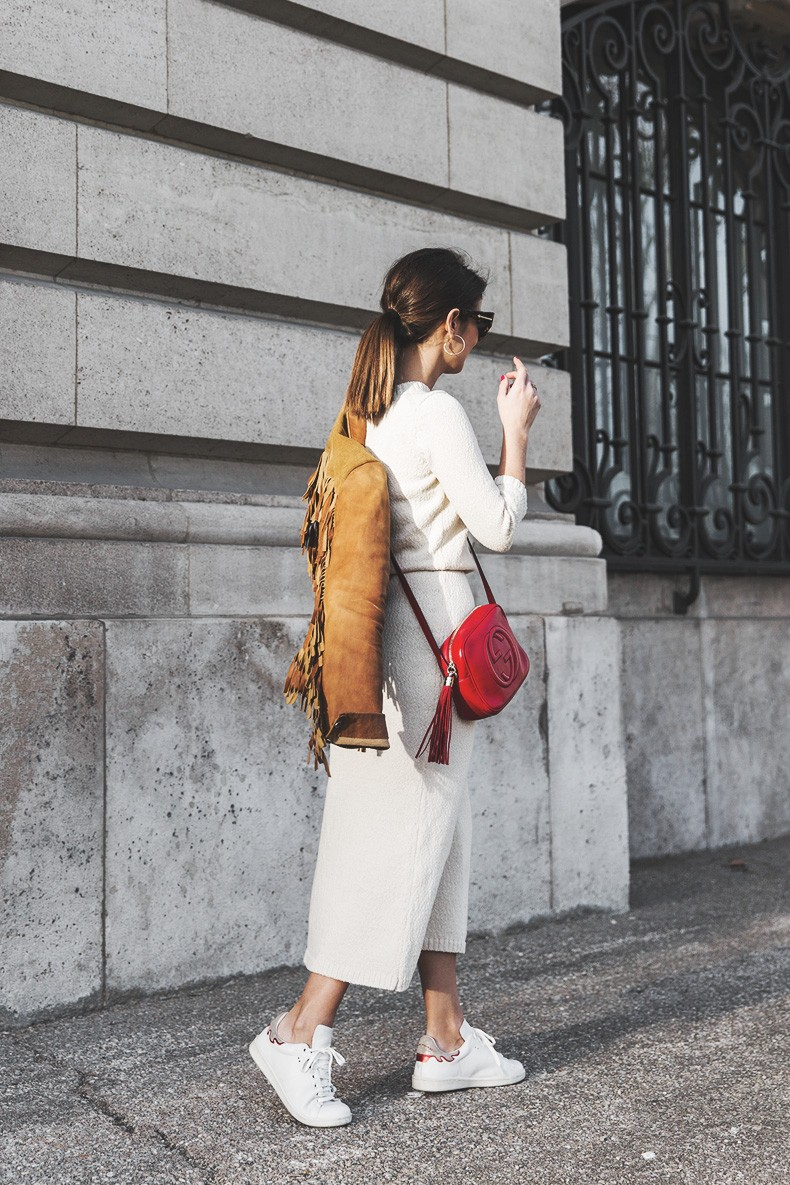 Fringed_Jacket-Polo_Ralph_Lauren-Flame_Sneakers-Isabel_Marant-Gucci_Disco_Bag-White_Dress-Outfit-Street_Style-6