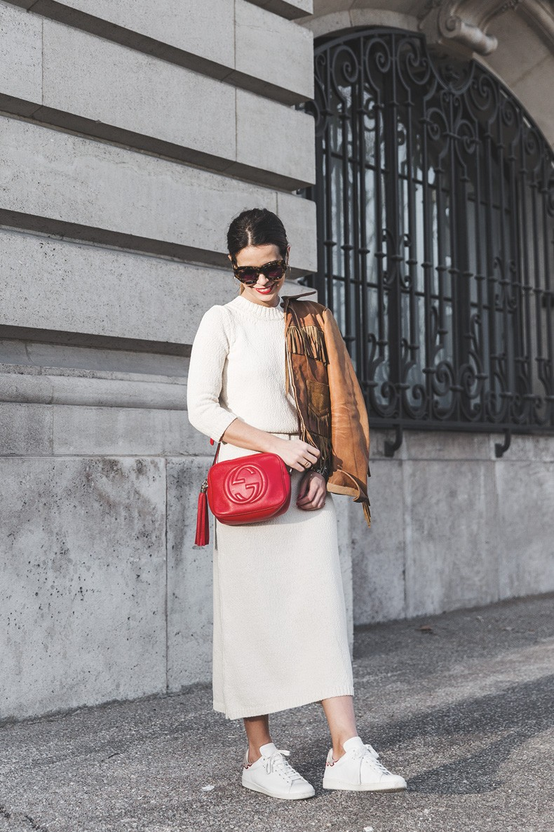 Fringed_Jacket-Polo_Ralph_Lauren-Flame_Sneakers-Isabel_Marant-Gucci_Disco_Bag-White_Dress-Outfit-Street_Style-9