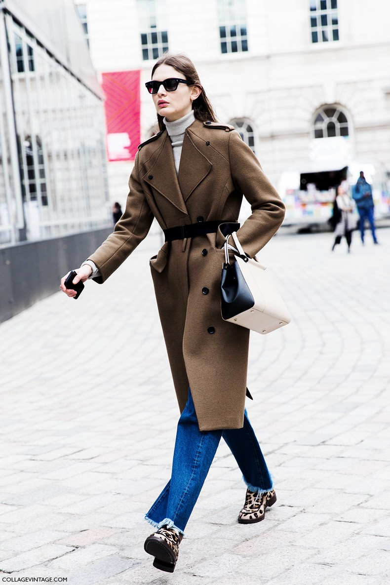 London_Fashion_Week_Fall_Winter_2015-Street_Style-LFW-Collage_Vintage-Camel_Coat-Belted_Coat-Leopard_Loafers-Victoria_Sekrier-