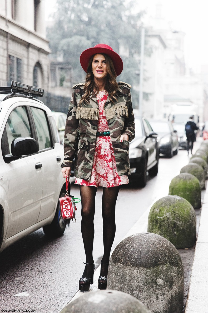 Milan_Fashion_Week-Fall_Winter_2015-Street_Style-MFW-Anna_Dello_Russo-Dsquared-Parka-