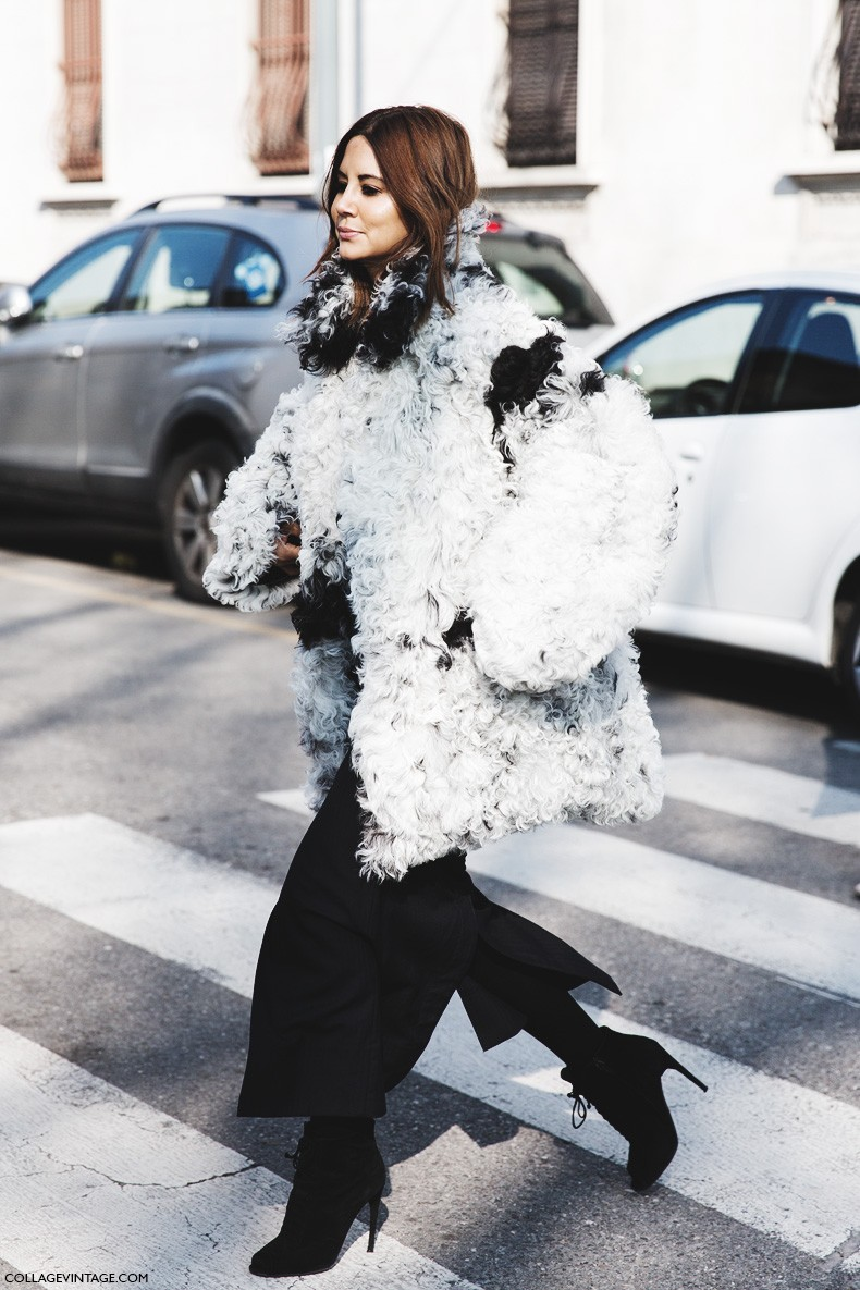 Milan_Fashion_Week-Fall_Winter_2015-Street_Style-MFW-Christine_Centenera-Fur_Coat-