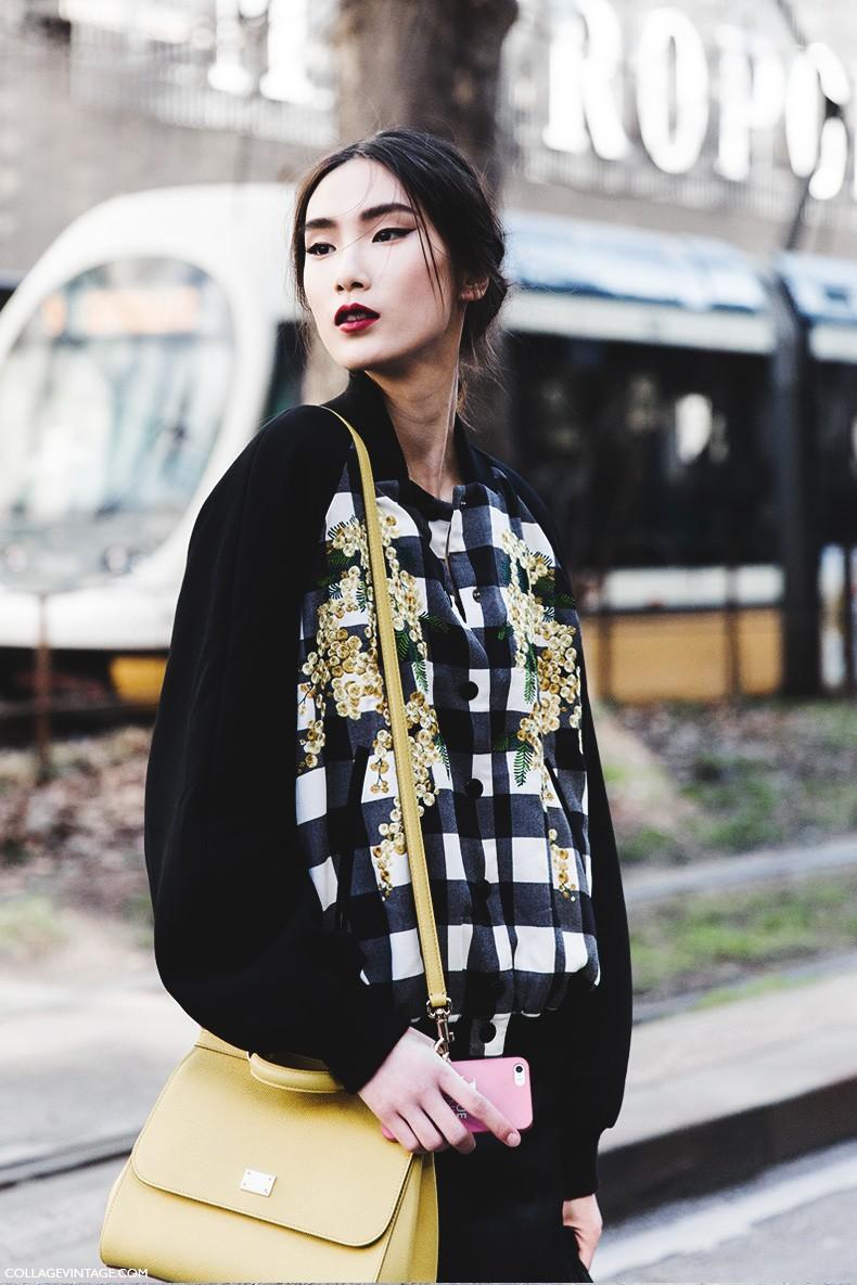 Street style mfw v collage vintage Fashion style oktober 2015