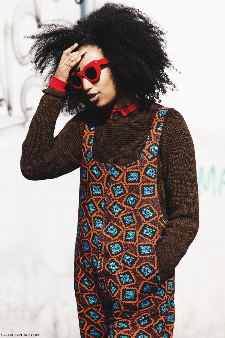 Milan_Fashion_Week-Fall_Winter_2015-Street_Style-MFW-Julia-Sarr_Jamois-Jumsuit-Overalls-