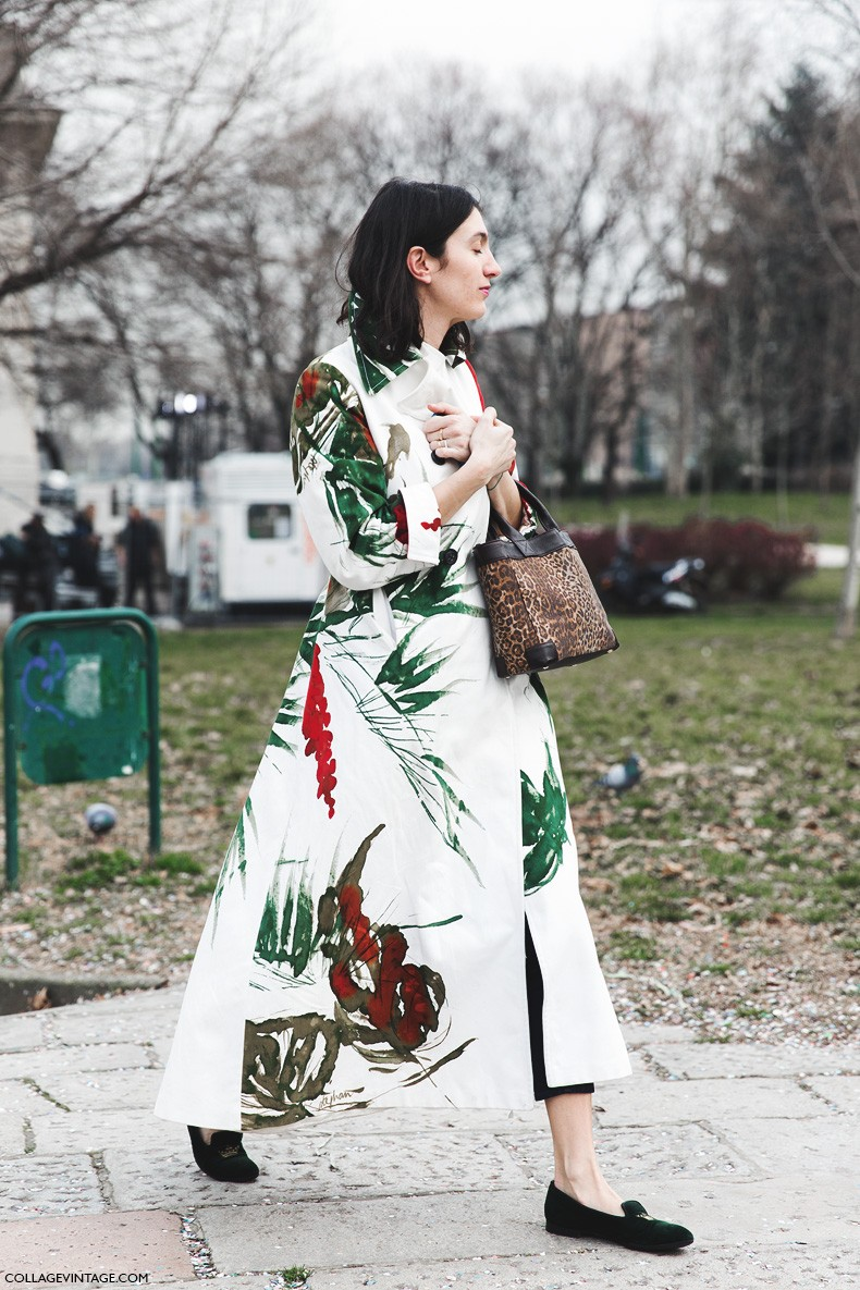 Milan_Fashion_Week-Fall_Winter_2015-Street_Style-MFW-Tropical_Coat-