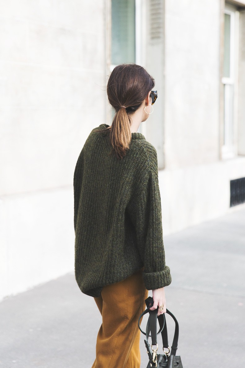 Paris-Green_Sweater-Orange_Trousers-Adidas_Stan_Smith-Ralph_Lauren_Bag-Ricky_Drawsting_Bag-Outfit-Street_Style-PFW-Maxi_Coat-58