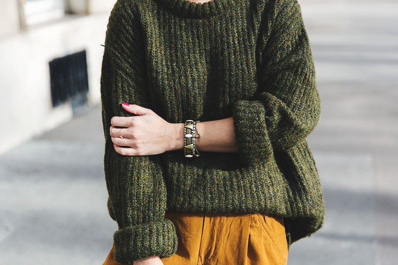 Paris-Green_Sweater-Orange_Trousers-Adidas_Stan_Smith-Ralph_Lauren_Bag-Ricky_Drawsting_Bag-Outfit-Street_Style-PFW-Maxi_Coat-91