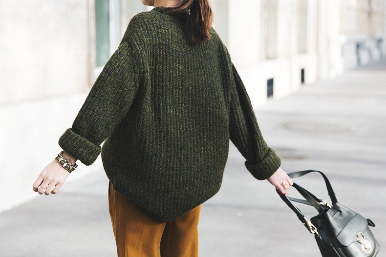 Paris-Green_Sweater-Orange_Trousers-Adidas_Stan_Smith-Ralph_Lauren_Bag-Ricky_Drawsting_Bag-Outfit-Street_Style-PFW-Maxi_Coat-95