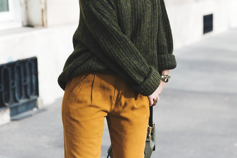 Paris-Green_Sweater-Orange_Trousers-Adidas_Stan_Smith-Ralph_Lauren_Bag-Ricky_Drawsting_Bag-Outfit-Street_Style-PFW-Maxi_Coat-96