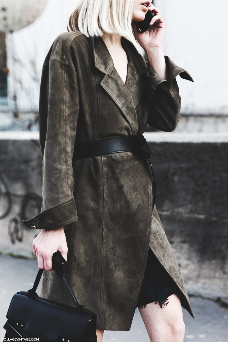 Paris_Fashion_Week-Fall_Winter_2015-Street_Style-PFW-Belted_Suede_Coat-1