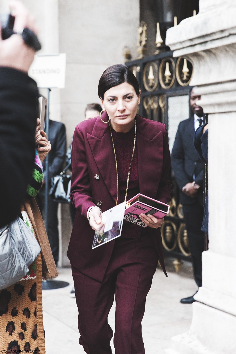 Paris_Fashion_Week-Fall_Winter_2015-Street_Style-PFW-Burgundy_Suite-Giovanna_Battaglia-5