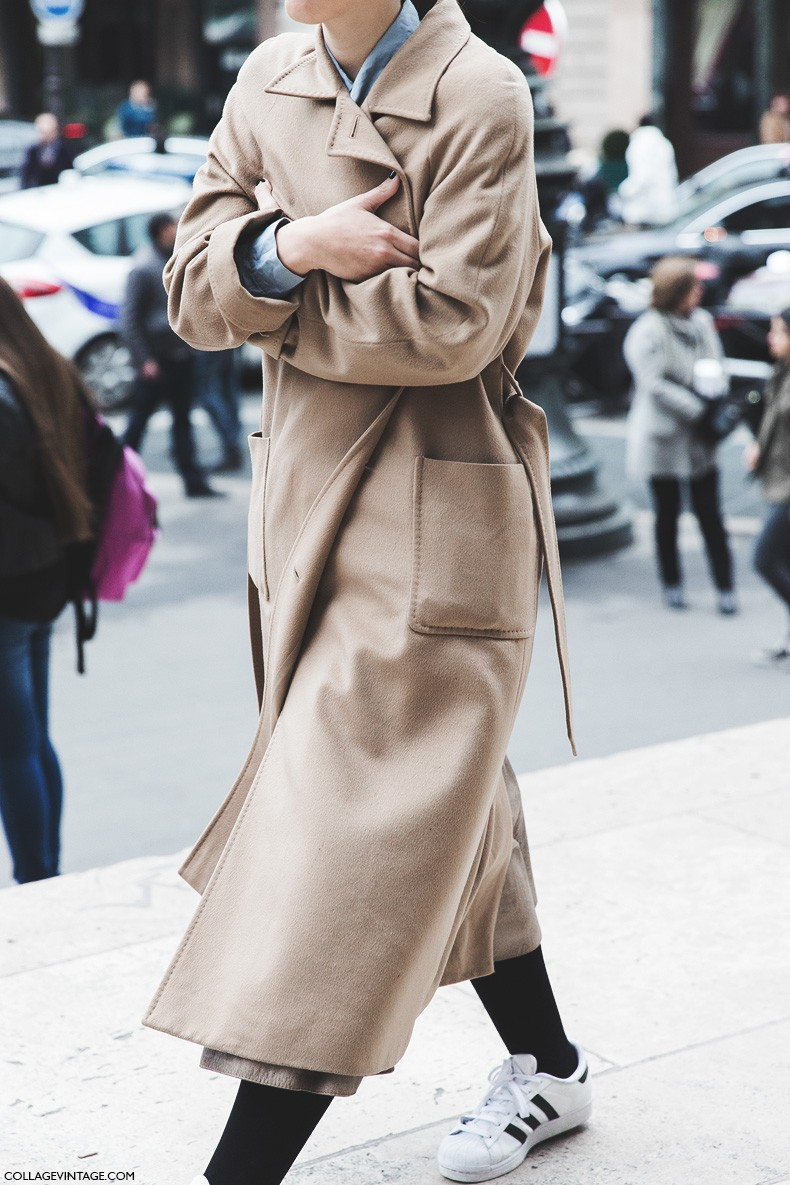 Paris_Fashion_Week-Fall_Winter_2015-Street_Style-PFW-Camel_Coat-Adidas_Sneakers-