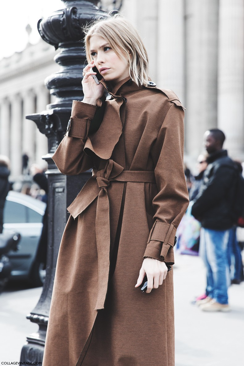 Paris_Fashion_Week-Fall_Winter_2015-Street_Style-PFW-Elena_Perminova_Trench-1
