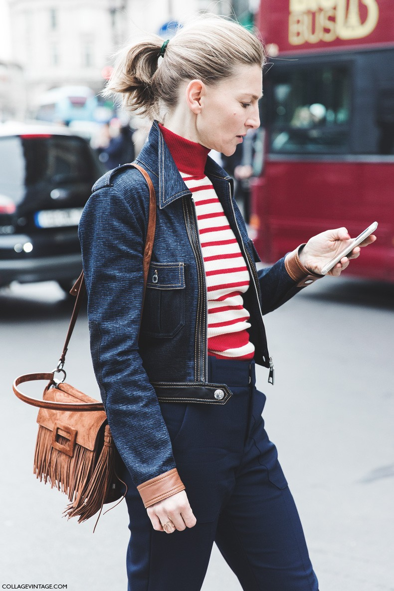 Paris_Fashion_Week-Fall_Winter_2015-Street_Style-PFW-Elisabeth_Von-Striped_Top-Denim-Fringed_Bag-