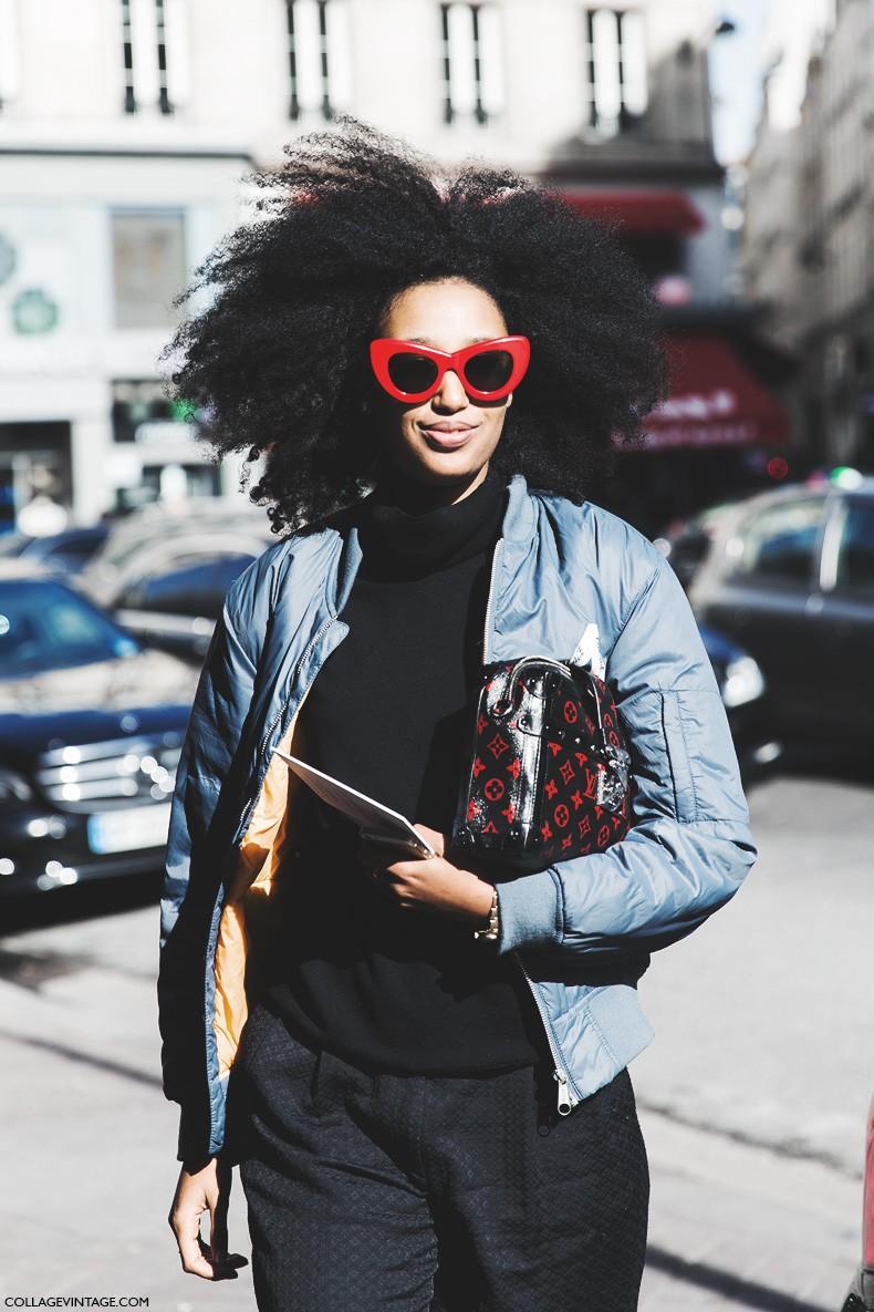 Paris_Fashion_Week-Fall_Winter_2015-Street_Style-PFW-Julia_Sarr_Jamois-Bomber-Louis_Vuitton_Bag-