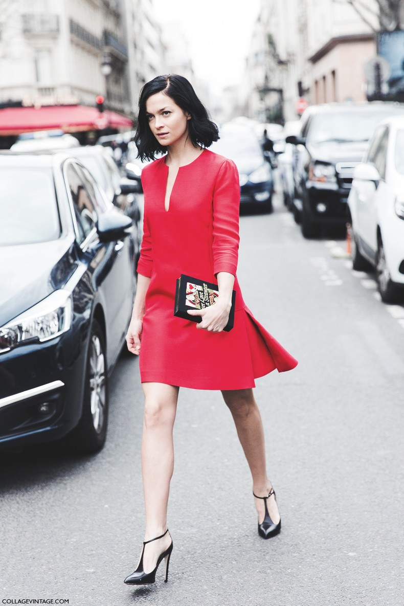 Paris_Fashion_Week-Fall_Winter_2015-Street_Style-PFW-Leigh_Lezark-Red_Dress-