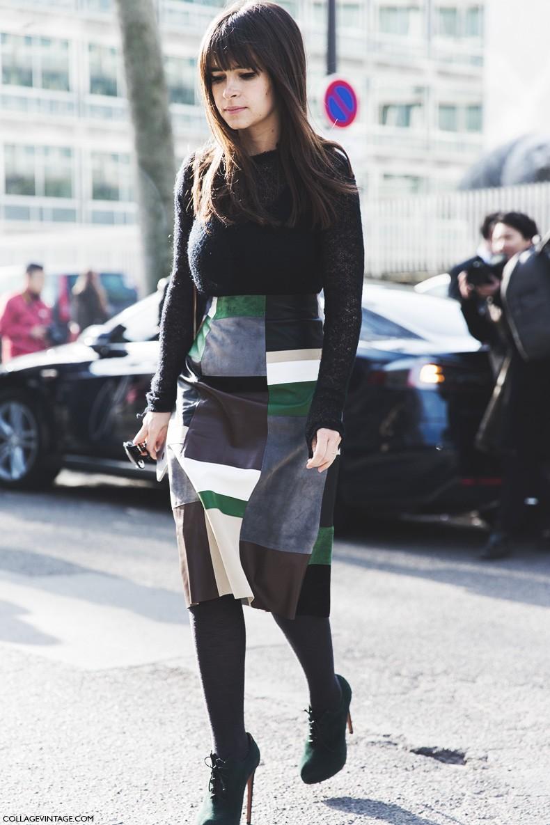Paris_Fashion_Week-Fall_Winter_2015-Street_Style-PFW-Misorlava_Duma-Pencil_Suede_Skirt-PatchWork-3