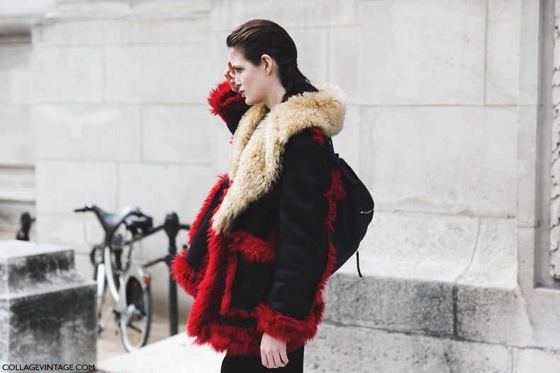 Paris_Fashion_Week-Fall_Winter_2015-Street_Style-PFW-Model_Fur_Coat-